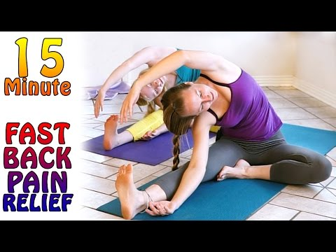Fast Again Pain Aid! – fifteen Moment Yoga Stretches For Again Pain & Sciatica Aid Exercise routines
