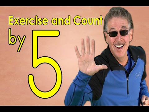 Count by 5 | Physical exercise and Depend By five | Count to 100 | Counting Songs | Jack Hartmann